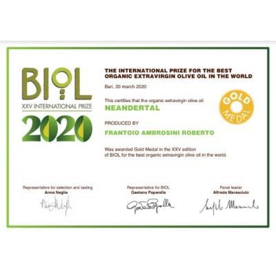Bioil 2020 Gold Medal