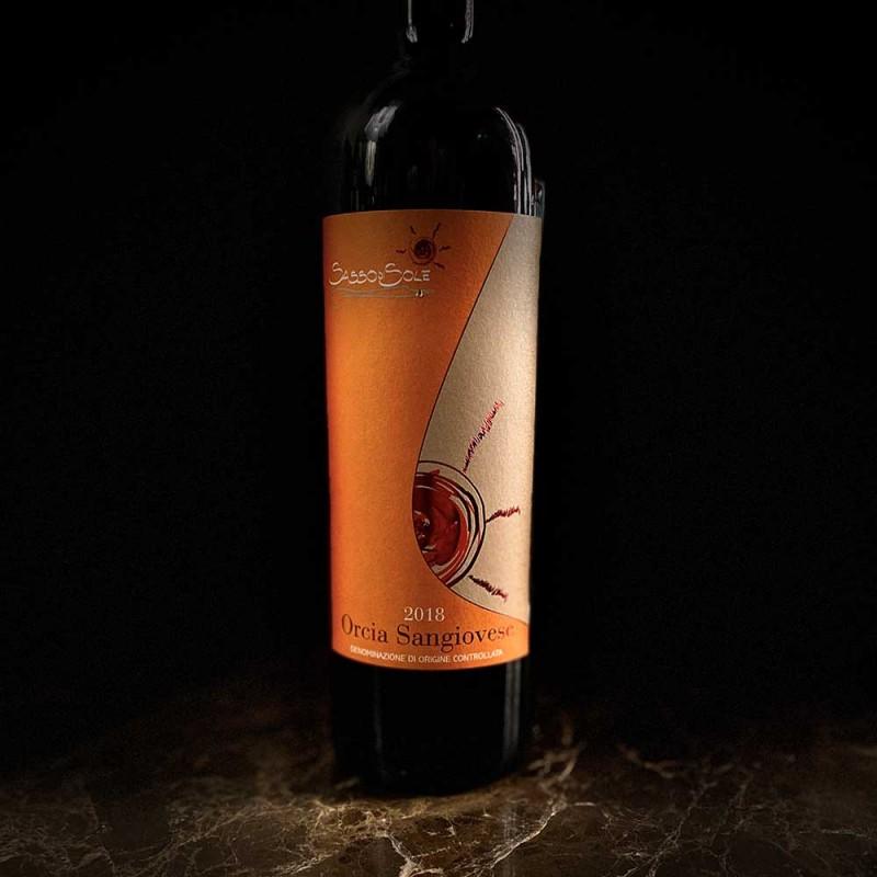 Vino rosso Orcia Sasso di Sole DOC BIO Toscana Sangiovese